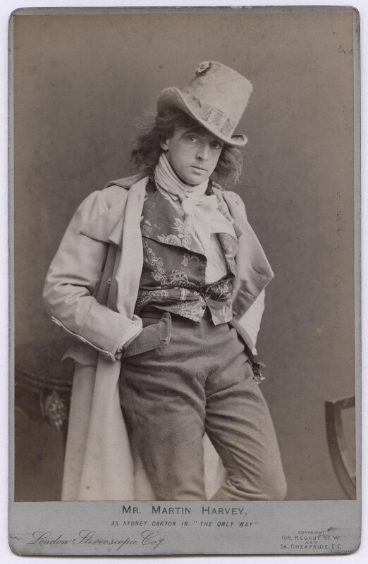 Sir John Martin-Harvey as Sydney Carton in 'The Only Way', by London Stereoscopic & Photographic Company, 1899 - NPG x197366 - © National Portrait Gallery, London