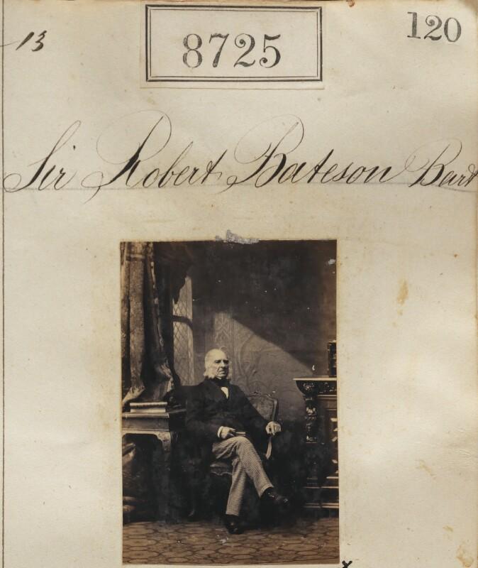 Sir Robert Bateson, 1st Bt, by Camille Silvy, 13 June 1862 - NPG Ax58548 - © National Portrait Gallery, London