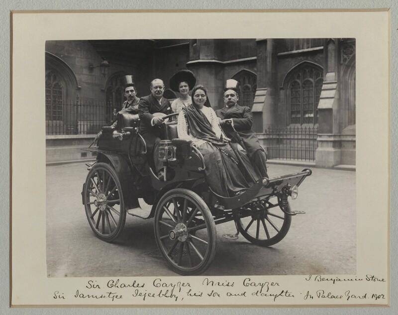 Image result for Sir (Rustomjee Cowasjee Cursetjee) Jamsetjee Jejeebhoy, 5th Bt; Sir Charles William Cayzer, 1st Bt; Miss Cayzer; Miss Jejeebhoy; Sir Jamsetjee Manockjee Cursetjee Jejeebhoy, 4th Bt-1902[B