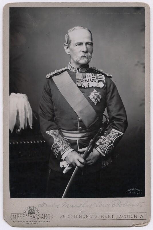 Frederick Sleigh Roberts, 1st Earl Roberts, by Alexander Bassano, 1891-1892 - NPG x197381 - © National Portrait Gallery, London