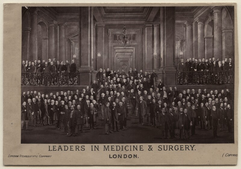 'Leaders in Medicine & Surgery', by London Stereoscopic & Photographic Company, early-mid 1870s - NPG x197426 - © National Portrait Gallery, London