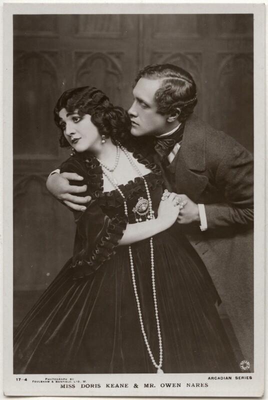 Doris Keane and Owen Ramsay Nares in 'Romance', by Foulsham & Banfield, published by  J.J. Samuels Ltd, 1915 - NPG x139694 - © National Portrait Gallery, London