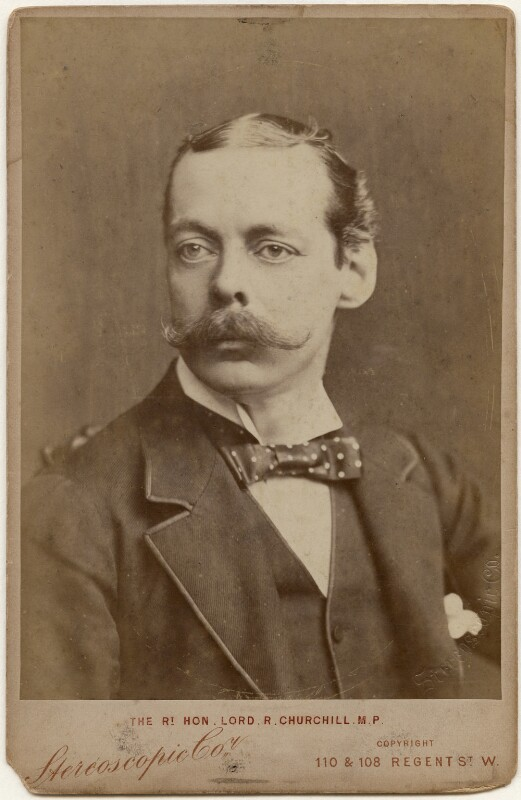 Lord Randolph Churchill, by London Stereoscopic & Photographic Company, 1886 - NPG x197458 - © National Portrait Gallery, London