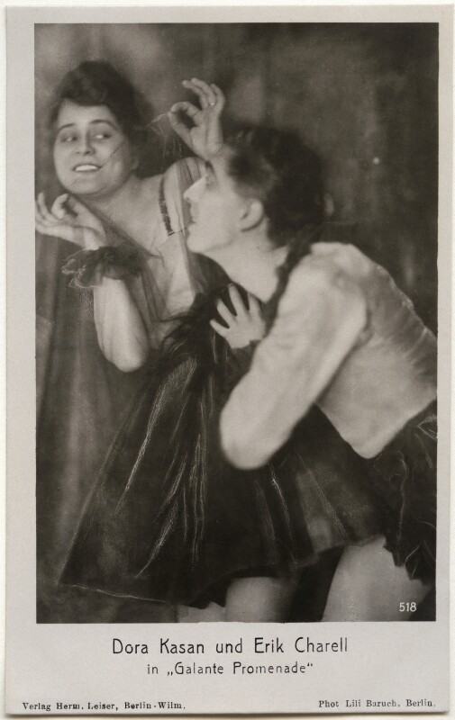 Dora Kasan and Erik Charell in 'Galante Promenade', by Lili Baruch, published by  Verlag Herm, 1920s - NPG x139702 - © National Portrait Gallery, London