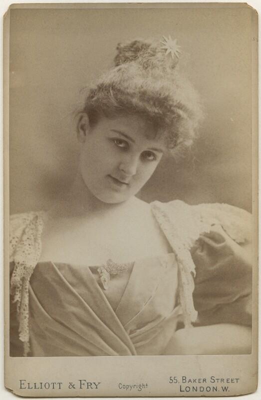 Mary Carolyn Campbell ('May', née Cuyler), Lady Grey-Egerton, by Elliott & Fry, late 1890s - NPG x197466 - © National Portrait Gallery, London