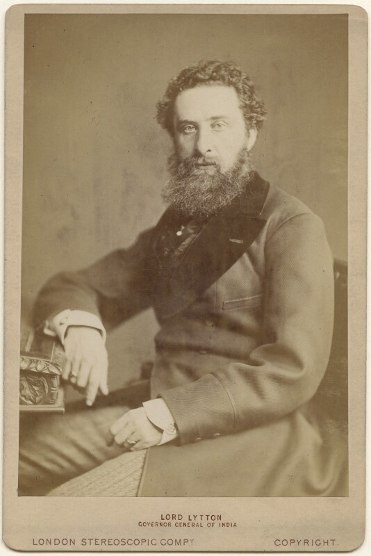 Edward Robert Bulwer-Lytton, 1st Earl of Lytton, by London Stereoscopic & Photographic Company, 1876 - NPG x197471 - © National Portrait Gallery, London