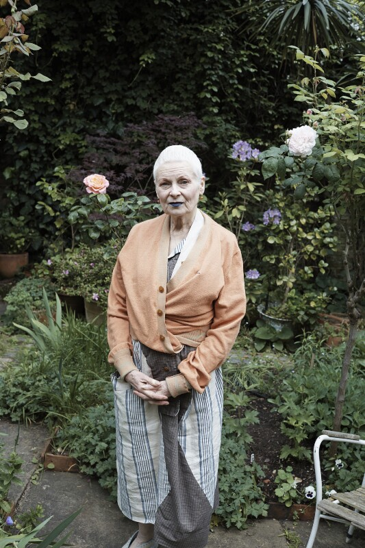 Vivienne In Her Garden, London 2014 (Dame Vivienne Westwood), by Juergen Teller, 2014 - NPG P1980 - © National Portrait Gallery, London/ Photo: Juergen Teller