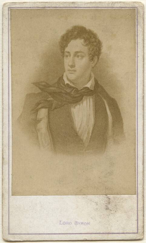 Lord Byron, after George Sanders (Saunders), circa 1860s (1808-1809) - NPG x197495 - © National Portrait Gallery, London