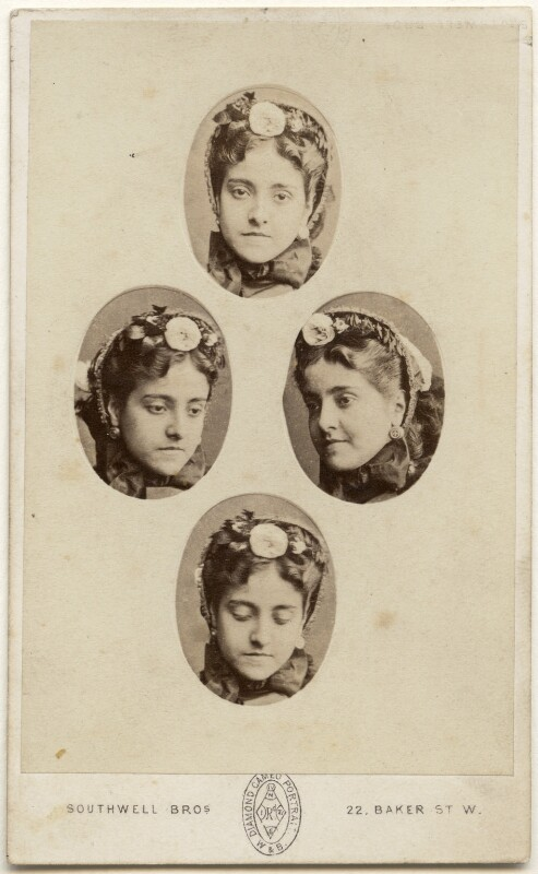 Adelina Patti, by Southwell Brothers, mid-late 1860s - NPG x197543 - © National Portrait Gallery, London