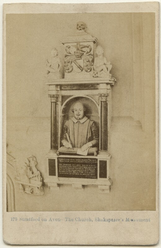 Funerary monument to William Shakespeare by Gerard Johnson, by Francis Bedford, 1860s - NPG x197552 - © National Portrait Gallery, London