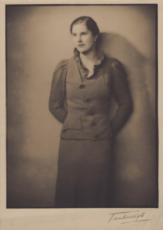Lady Alexandra Henrietta Louisa Haig (later Alexandra Trevor-Roper, Lady Dacre), by Tunbridge, 1930s - NPG x182266 - © National Portrait Gallery, London
