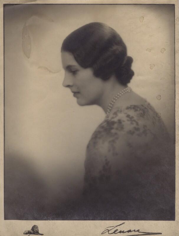 Lady Alexandra Henrietta Louisa Haig (later Alexandra Trevor-Roper, Lady Dacre), by Lenare, 1930s - NPG x182267 - © reserved; collection National Portrait Gallery, London
