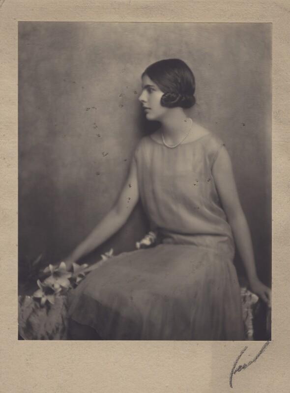 Lady Alexandra Henrietta Louisa Haig (later Alexandra Trevor-Roper, Lady Dacre), by Hugh Cecil (Hugh Cecil Saunders), 1920s - NPG x182270 - © reserved; collection National Portrait Gallery, London