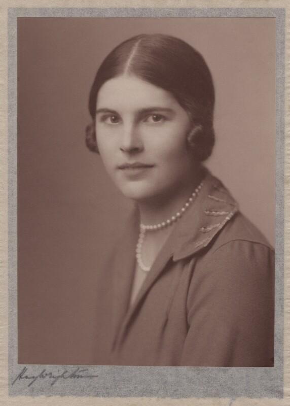 Lady Alexandra Henrietta Louisa Haig (later Alexandra Trevor-Roper, Lady Dacre), by Hay Wrightson, 1920s - NPG x182271 - © National Portrait Gallery, London