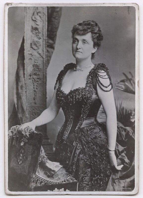 Consuelo Montagu (née Yznaga), Duchess of Manchester, by Unknown photographer, circa 1891 - NPG x197583 - © National Portrait Gallery, London