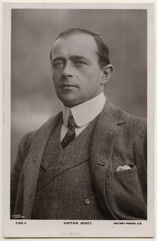 Robert Falcon Scott, by James Charles Dinham, published by  Rotary Photographic Co Ltd, published circa 1912 - NPG x197643 - © National Portrait Gallery, London