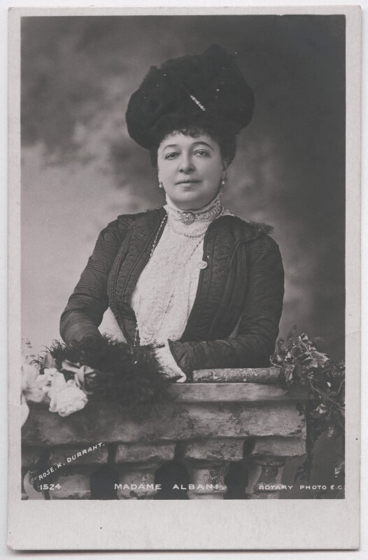 Emma Albani, by Harold Humphrey Brooke Durrant, for  Rose Kate Durrant & Sons, published by  Rotary Photographic Co Ltd, 1902 - NPG x197702 - © National Portrait Gallery, London