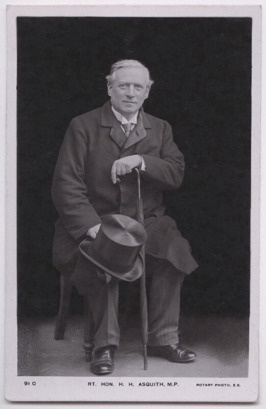 Herbert Henry Asquith, 1st Earl of Oxford and Asquith, published by Rotary Photographic Co Ltd, 1900s - NPG x197710 - © National Portrait Gallery, London