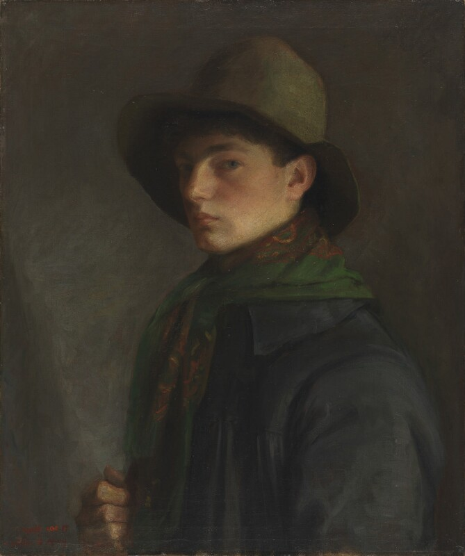 Mark Gertler ('Self Portrait with Fishing Cap'), by Mark Gertler, circa 1908-1909 - NPG 6990 - © National Portrait Gallery, London