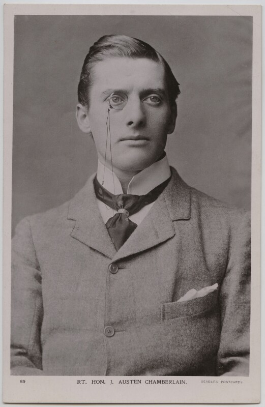 Sir (Joseph) Austen Chamberlain, by Henry Roland White, published by  J. Beagles & Co, circa 1902-1903 - NPG x197750 - © National Portrait Gallery, London
