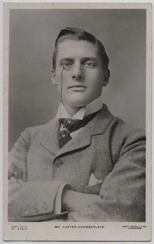 Sir (Joseph) Austen Chamberlain, published by Scott Russell & Co, circa 1902-1903 - NPG x197751 - © National Portrait Gallery, London