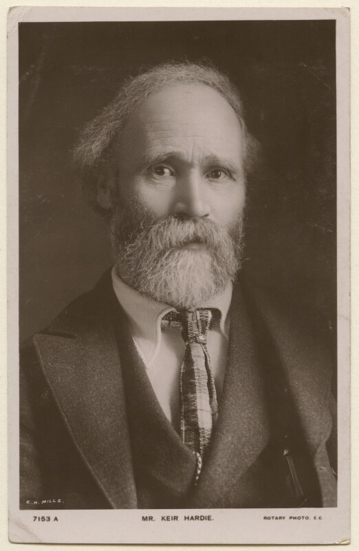 Keir Hardie, by E.H. Mills, published by  Rotary Photographic Co Ltd, circa 1905 - NPG x197785 - © National Portrait Gallery, London