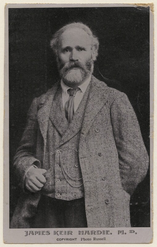 Keir Hardie, by James Russell & Sons, 1900s - NPG x197786 - © National Portrait Gallery, London