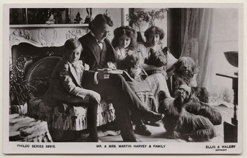 'Mr. & Mrs. Martin Harvey & Family', by Alfred Ellis & Walery, published by  The Philco Publishing Co, late 1900s - NPG x197788 - © National Portrait Gallery, London