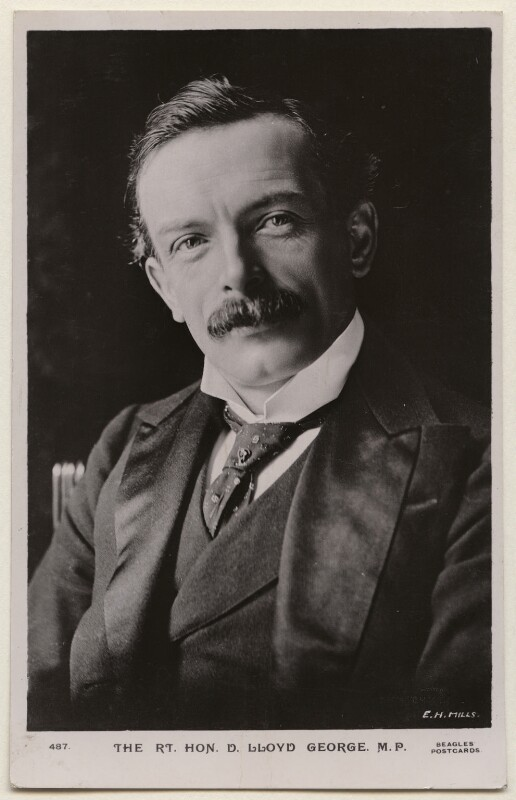 David Lloyd George, by E.H. Mills, published by  J. Beagles & Co, 1900s - NPG x197799 - © National Portrait Gallery, London
