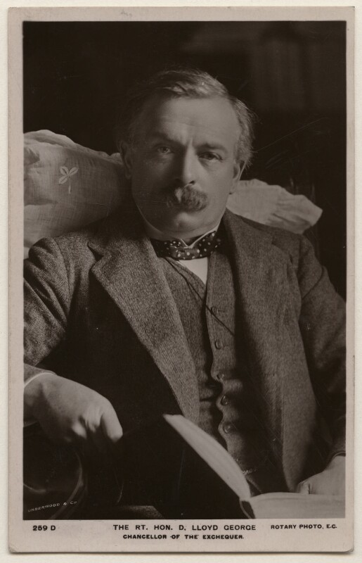 David Lloyd George, by Underwood & Co, published by  Rotary Photographic Co Ltd, 1908-1915 - NPG x197801 - © National Portrait Gallery, London