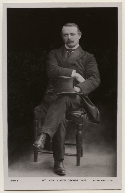 David Lloyd George, published by Rotary Photographic Co Ltd, 1900s - NPG x197811 - © National Portrait Gallery, London