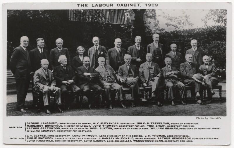 'The Labour Cabinet, 1929', by Barratt's, 1929 - NPG x197884 - © National Portrait Gallery, London