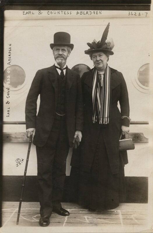Marquess and Marchioness of Aberdeen and Temair, by Bain News Service, circa 1910-1915 - NPG x197887 - © National Portrait Gallery, London