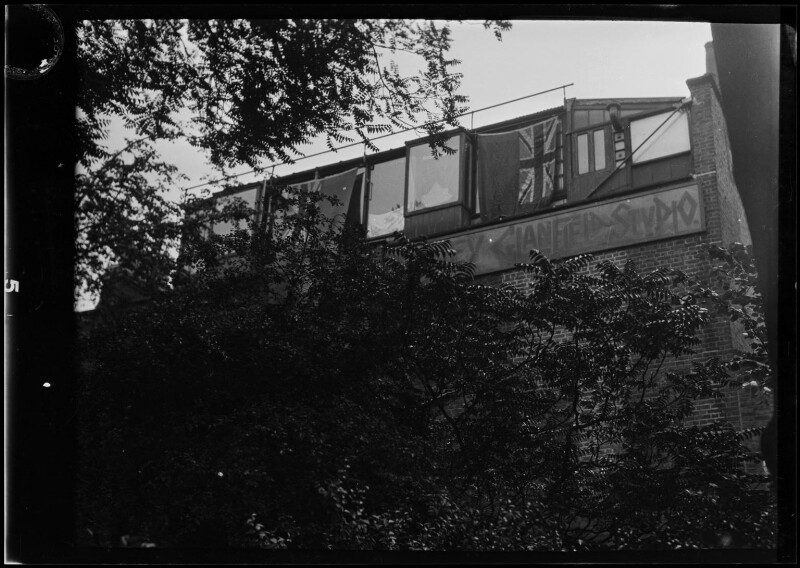 Dudley Glanfield studio exterior, by Dudley Glanfield, 1920s - NPG x198643 - © reserved; collection National Portrait Gallery, London