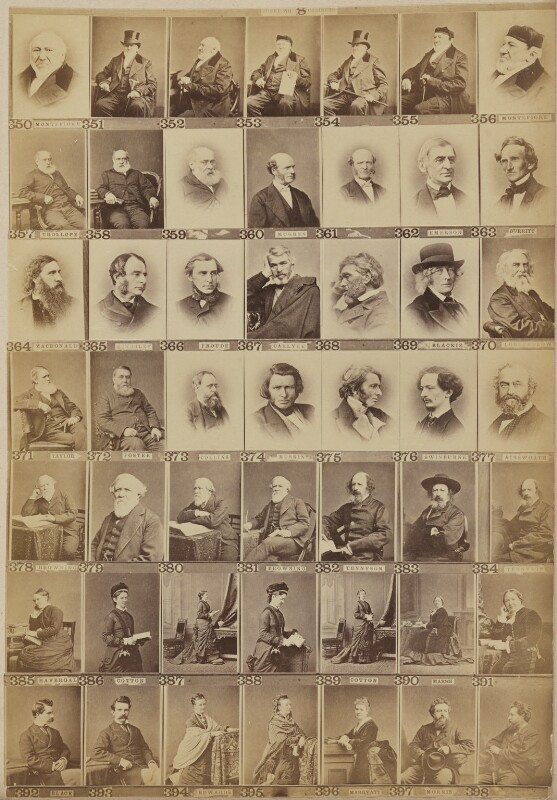 Various writers, historians and philanthropists, by and after Elliott & Fry, 1890s - NPG Ax139908 - © National Portrait Gallery, London