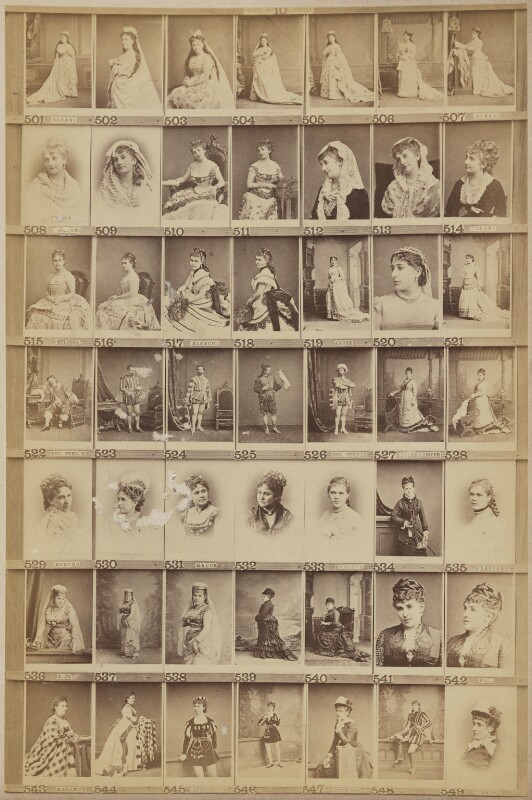 Various singers, by and after Elliott & Fry, 1890s (circa 1879) - NPG Ax139910 - © National Portrait Gallery, London