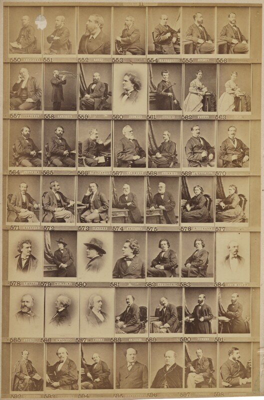 Various musical celebrities, by and after Elliott & Fry, 1890s - NPG Ax139911 - © National Portrait Gallery, London