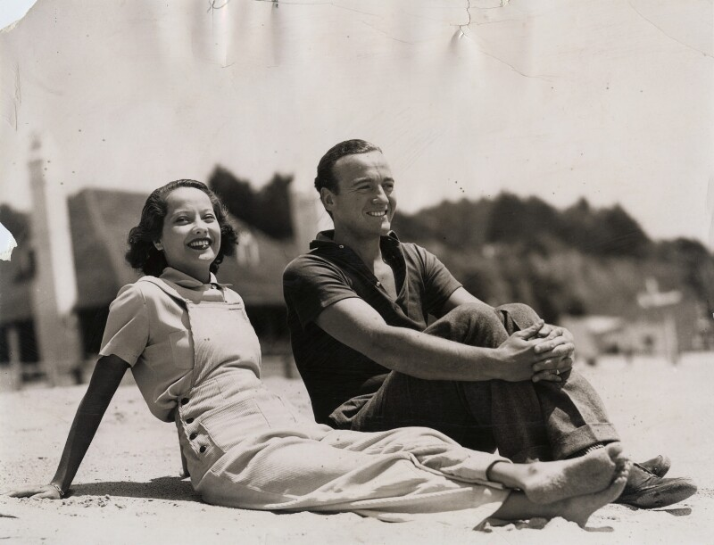Merle Oberon; David Niven, for ACME Newspictures, Inc., 1935 - NPG x139880 - © National Portrait Gallery, London
