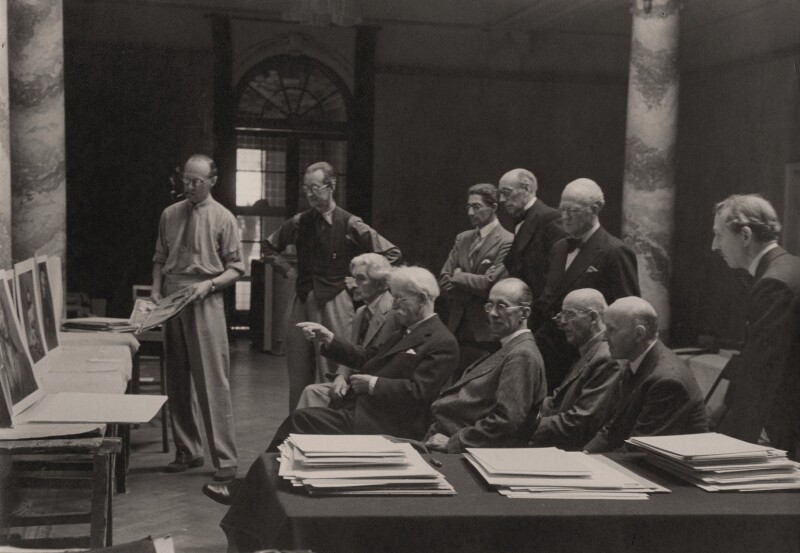 Salon Selection Committee, by Lancelot Vining, circa 1944 - NPG x139962 - © reserved; collection National Portrait Gallery, London