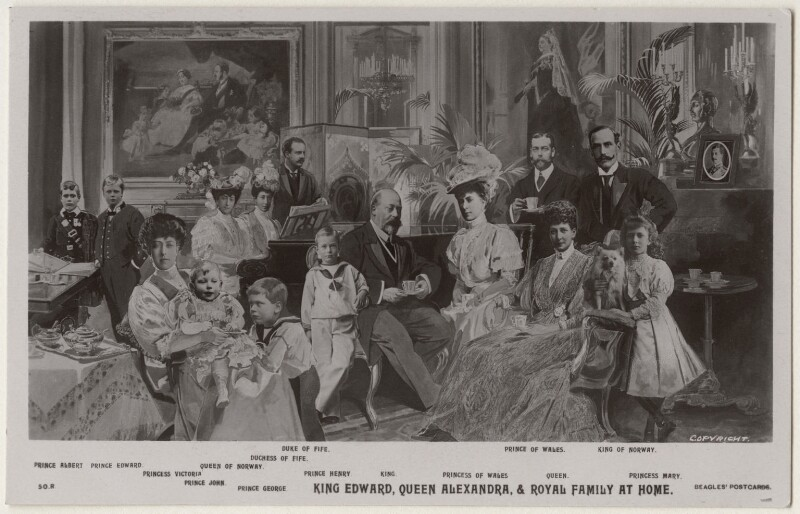 'King Edward, Queen Alexandra & Royal Family at Home', published by J. Beagles & Co, circa 1906 - NPG x193015 - © National Portrait Gallery, London
