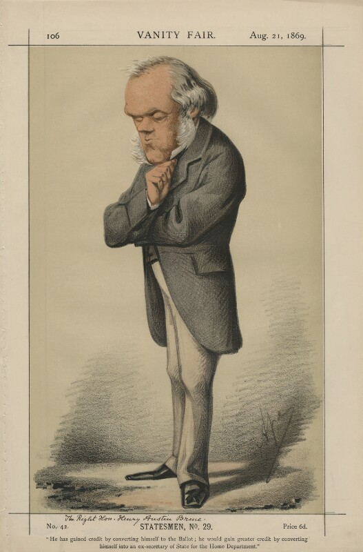 Henry Austin Bruce, 1st Baron Aberdare (Statesmen, No. 29.'), by Carlo Pellegrini, published in Vanity Fair 21 August 1869 - NPG D43393 - © National Portrait Gallery, London