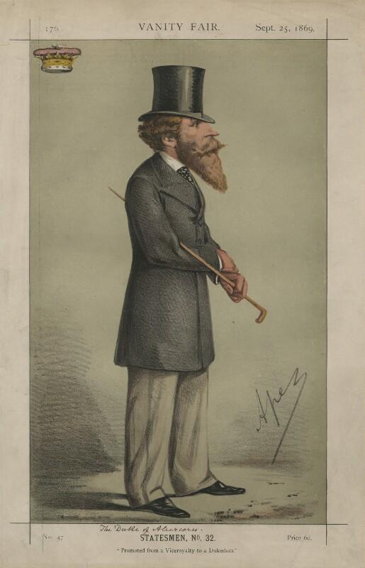 James Hamilton, 1st Duke of Abercorn ('Statesmen, No. 32.'), by Carlo Pellegrini, published in Vanity Fair 25 September 1869 - NPG D43398 - © National Portrait Gallery, London