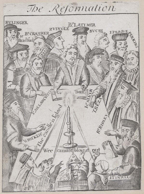 The Reformation, by Unknown artist, circa 1683 - NPG D43263 - © National Portrait Gallery, London