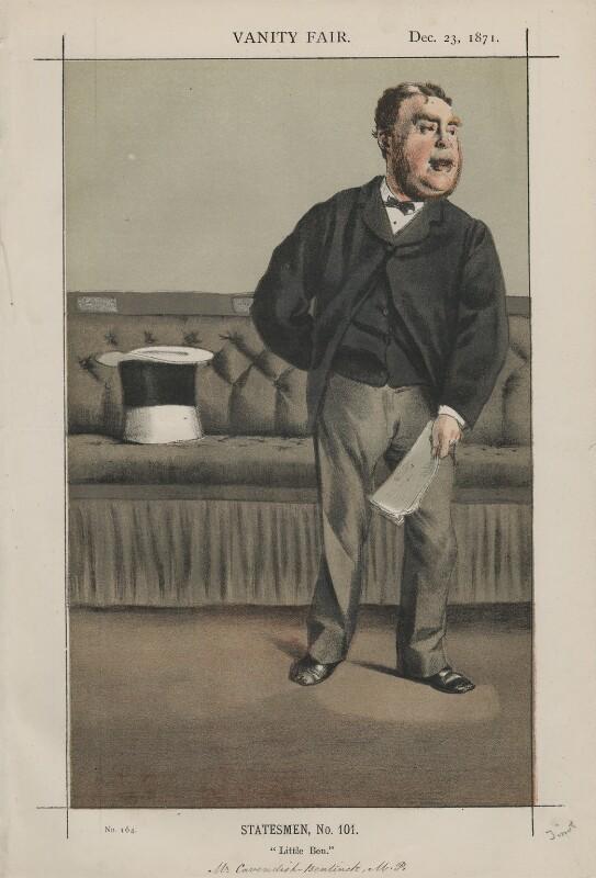 George Augustus Frederick Cavendish-Bentinck ('Statesmen, No. 101., by James Jacques Tissot, published in Vanity Fair 23 December 1871 - NPG D43515 - © National Portrait Gallery, London