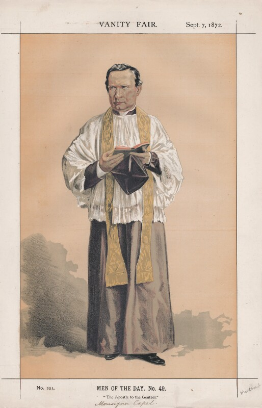 Thomas John Capel ('Men of the Day, No. 49.'), by Charles Auguste Loye ('M.D' or Montbard), published in Vanity Fair 7 September 1872 - NPG D43552 - © National Portrait Gallery, London
