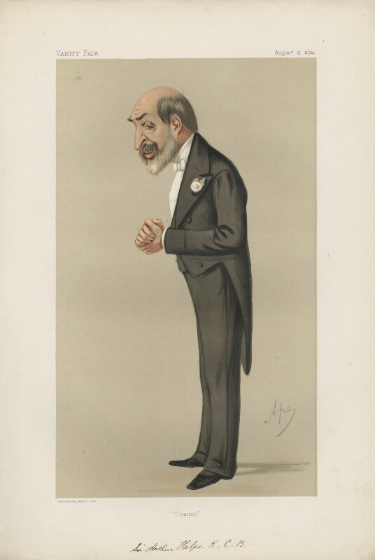 Sir Arthur Helps ('Men of the Day. No. 86.'), by Carlo Pellegrini, published in Vanity Fair 15 August 1874 - NPG D43653 - © National Portrait Gallery, London