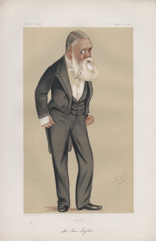 Tom Taylor ('Men of the Day. No. 126.'), by Sir Leslie Ward, published in Vanity Fair 11 March 1876 - NPG D43735 - © National Portrait Gallery, London