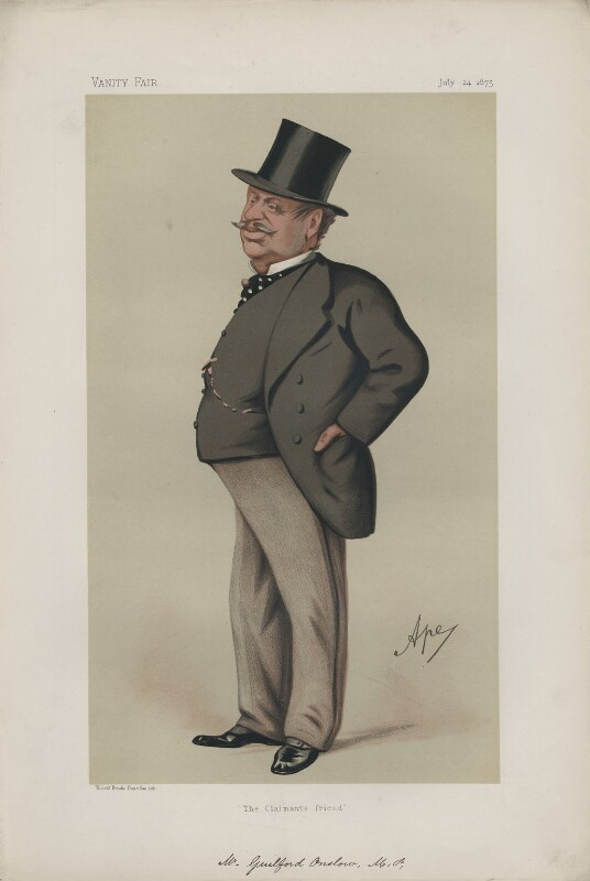 Guildford James Hillier Onslow ('Men of the Day. No. 107'), by Carlo Pellegrini, published in Vanity Fair 24 July 1875 - NPG D43702 - © National Portrait Gallery, London
