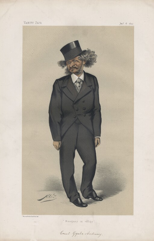 Count Gyula Andrassy ('Statesmen. No. 240.'), by Klúz, published in Vanity Fair 6 January 1877 - NPG D43778 - © National Portrait Gallery, London