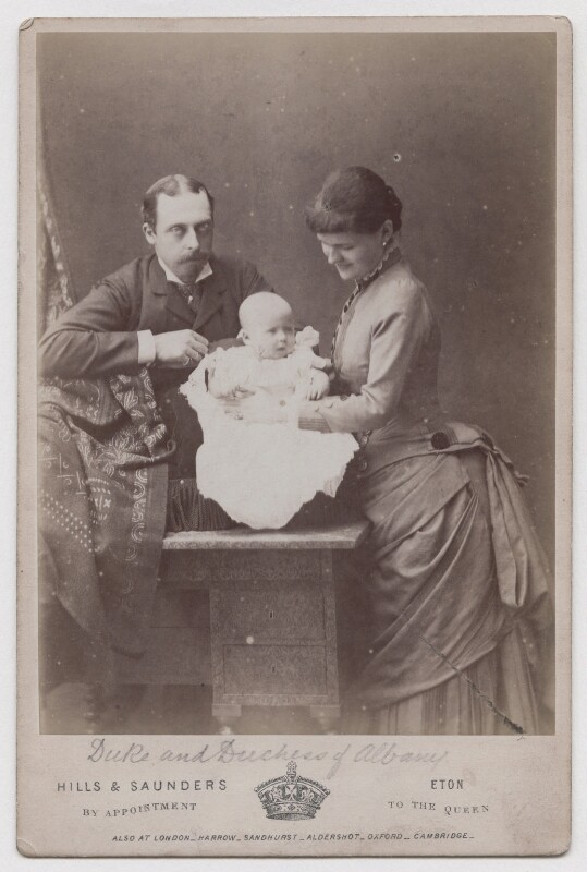 Prince Leopold, Duke of Albany; Princess Alice, Countess of Athlone; Princess Helen, Duchess of Albany, by Hills & Saunders, 1883 - NPG x197970 - © National Portrait Gallery, London